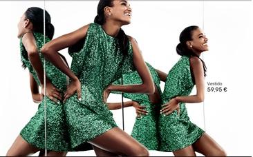 vestido verde H&M