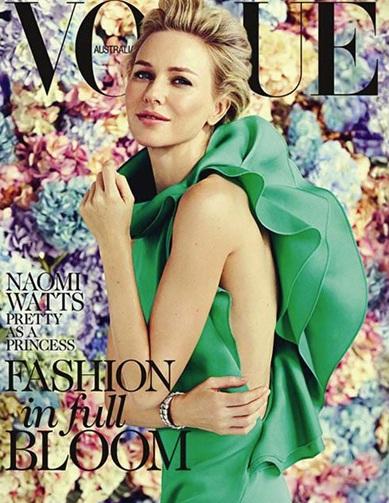 vogue vestido verde